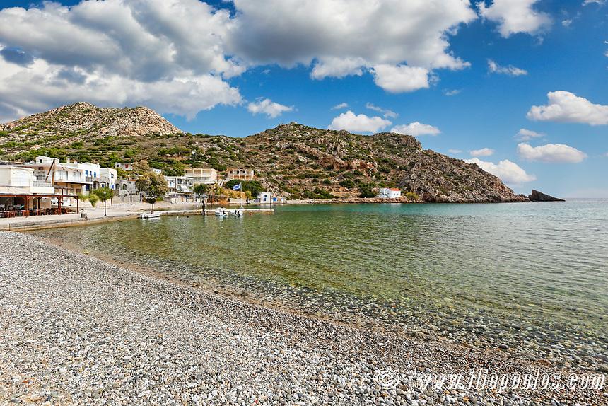 The beach Emporios in Chios island, Greece