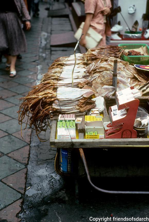 So. Korea: Pusan--Dried squid in market place. Photo '81.
