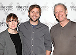 Liz Stauber, Michael Stahl-David & Mark Blum.attending the Meet & Greet the cast & creatives for the Off-Broadway World Premiere of 'PICKED' at the Vineyard Theatre in New York City.