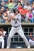 Kane County Cougars Zack Shannon (32) at bat during a Midwest League game against the Quad Cities River Bandits on August 24, 2019 at Modern Woodmen Park in Davenport, Iowa.  Quad Cities defeated defeated Kane County 8-2.  (Travis Berg/Four Seam Images)