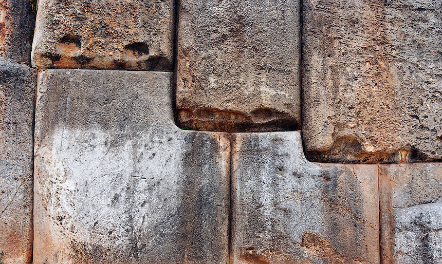 Tightly fitted stone wall, Sacsayhuaman, Cuzco, Peru