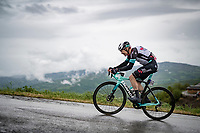 Christopher Juul-Jensen (DEN/BikeExchange) up the Colle Passerino (3km from the finish)<br /> <br /> 104th Giro d'Italia 2021 (2.UWT)<br /> Stage 4 from Piacenza to Sestola (187km)<br /> <br /> ©kramon
