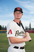 Visalia Rawhide first baseman Pavin Smith (6) poses for a photo before a California League game against the Stockton Ports at Visalia Recreation Ballpark on May 10, 2018 in Stockton, California. (Zachary Lucy/Four Seam Images via AP Images)