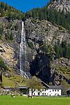 Oesterreich, Kaernten, Maltatal, Fallbach-Wasserfall in Koschach, Kaerntens hoechster Wasserfall | Austria, Carinthia, Maltal Valley, Fallbach waterfall at Koschach,  Carinthia's highest waterfall