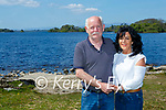 Denis and Marie O'Carroll launching Nathan's walk at Ross Castle on Monday