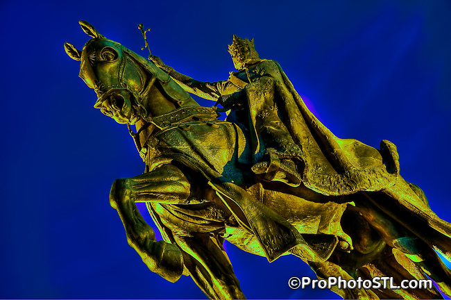 Statue of King Saint Louis at Forest Park in St. Louis, MO.