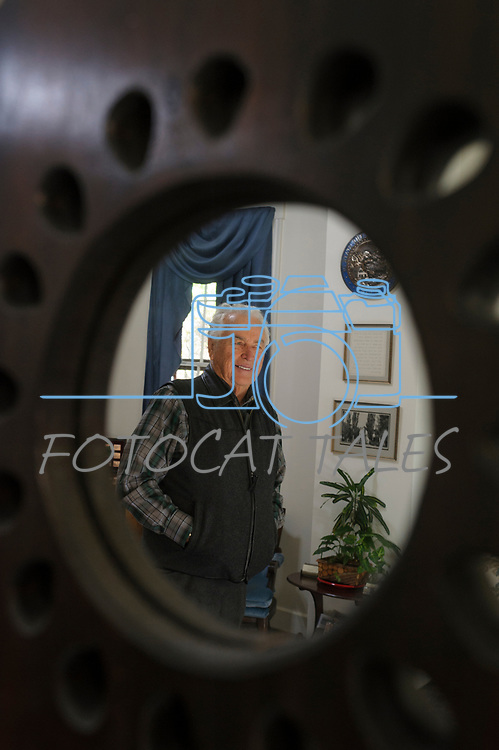 Julian Smith, owner of a historical home built in 1863 allows visitors in his home during the Carson City Ghost Walk on the historical west side of the city Saturday, Oct. 21, 2017.<br /> Photo by Candice Nyando/Nevada Momentum