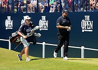 18th July 2021; Royal St Georges Golf Club, Sandwich, Kent, England; The Open Championship,  Golf, Day Four; defending champion Shane Lowry (IRE) walks from the first tee