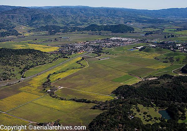 aerial photograph Yountville, Napa County, California
