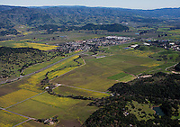 aerial photograph Yountville, Napa County, California