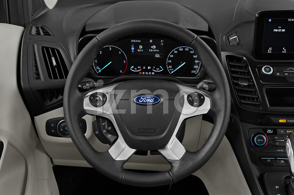 Car pictures of steering wheel view of a 2020 Ford Grand-Tourneo-Connect Titanium 5 Door Minivan Steering Wheel