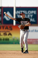 May 19  2007: Mark Antonelli of the Lake Elsinore Storm during game against the Lancaster JetHawks at Clear Channel Stadium in Lancaster,CA.  Photo by Larry Goren/Four Seam Images