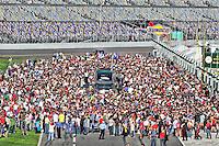 The crowded grid before the Rolex 24 at Daytona, Daytona International Speedway, Daytona Beach, FL, January 2011.  (Photo by Brian Cleary/www.bcpix.com)