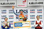 Sindre Skjostad Lunke Team Fortuneo Samsic takes over the climbers Salmon Jersey at the end of Stage 2 of the 2018 Artic Race of Norway, running 195km from Tana to Kjøllefjord, Norway. 17th August 2018. <br /> <br /> Picture: ASO/Pauline Ballet | Cyclefile<br /> All photos usage must carry mandatory copyright credit (© Cyclefile | ASO/Pauline Ballet)
