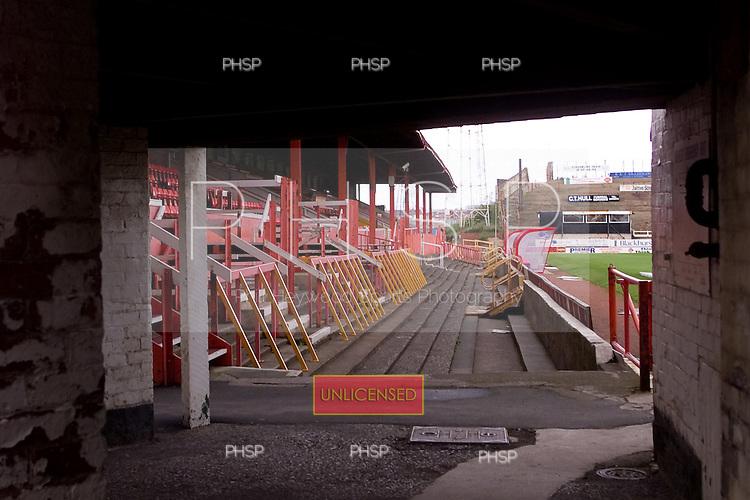 23/06/2000 Blackpool FC Bloomfield Road Ground..West paddock entrance.....© Phill Heywood.