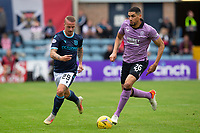 25th September 2021; Kilmac Stadium, Dundee, Scotland: Scottish Premiership football, Dundee versus Rangers; Leigh Griffiths of Dundee challenges Leon Balogun of Rangers
