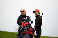 STANFORD, CA - APRIL 25: Laura Ianello, YuSang Hou at Stanford Golf Course on April 25, 2021 in Stanford, California.