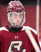 JD Dudek (BC - 15) - The Boston College Eagles practiced on the rink at Fenway Park on Friday, January 6, 2017.