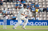 Kane Williamson, New Zealand guides the ball into the offside during India vs New Zealand, ICC World Test Championship Final Cricket at The Hampshire Bowl on 23rd June 2021