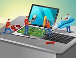 Antivirus agents fixing computer hardware