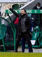 6th February 2021; Easter Road, Edinburgh, Scotland; Scottish Premiership Football, Hibernian versus Aberdeen; Aberdeen Manager Derek McInnes