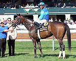 Miss Ella and jockey Rajiv Maragh win the Adena Springs Beaumont at Keeneland for owner Jack Swain and trainer Graham Motion.