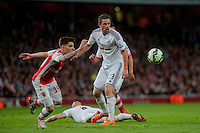 LONDON, ENGLAND - MAY 11 Gylfi Sigurosson of Swansea City  in action during  to the Premier League match between Arsenal and Swansea City at Emirates Stadium on May 11, 2015 in London, England.  (Photo by Athena Pictures/Getty Images)