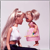 Two dolls interacting<br />