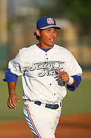 May 18 2009: Christian Lara of the Inland Empire 66'ers before game against the Lake Elsinore Storm at Arrowhead Credit Union Park in San Bernardino,CA.  Photo by Larry Goren/Four Seam Images