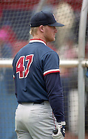 Boston Red Sox Greg Blosser during spring training circa 1993 at Chain of Lakes Park in Winter Haven, Florida.  (MJA/Four Seam Images)