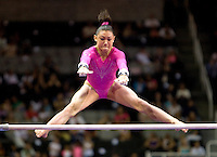 Kyla Ross of Gym-Max competes on uneven bars during the 2012 US Olympic Trials competition at HP Pavilion in San Jose, California on June 29th, 2012.
