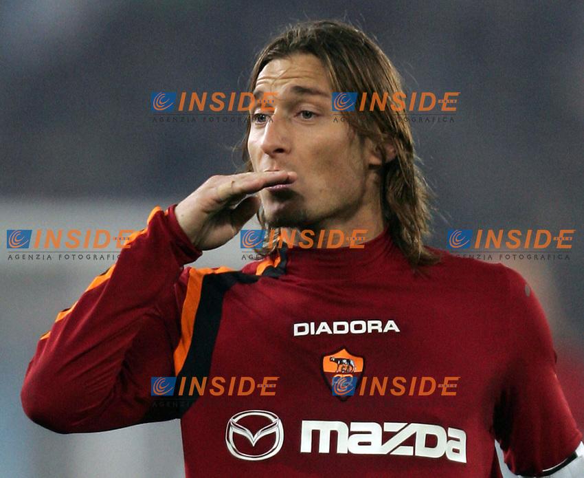 Roma 6/1/2005 Campionato Italiano Serie A <br /> Lazio Roma 3-1<br /> Francesco Totti Roma<br /> <br /> Photo Andrea Staccioli Insidefoto