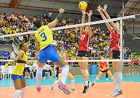 BARRANCABERMEJA - COLOMBIA, 21-09-2019: Colombia (COL) y Chile (CHI) en partido como parte del XXXIV Campeonato Sudamericano de Voleibol Femenino 2021 en el coliseo Luis F Castellanos de Barrancabermeja, Colombia. / Colombia (COL) and Chile (CHI) in a match as part of XXXIV South American Women's Volleyball Championship 2021 at the Luis F Castellanos Coliseum in Barrancabermeja, Colombia .  Photo: VizzorImage / Jose David Martinez M / Cont
