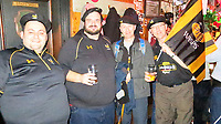 Photo: Richard Lane/Richard Lane Photography. Stade Rochelais v Wasps.  European Rugby Champions Cup. 09/12/2017. Wasps supporters at the General Humbert's bar the night before the game.