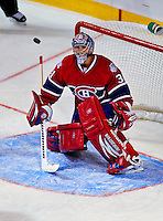 24 January 2009: Montreal Canadiens' goaltender Carey Price in action during the NHL YoungStars Game where the Rookies defeated the Sophomores 9-5 in the NHL SuperSkills Competition, part of the All-Star Weekend at the Bell Centre in Montreal, Quebec, Canada. ***** Editorial Sales Only ***** Mandatory Photo Credit: Ed Wolfstein Photo
