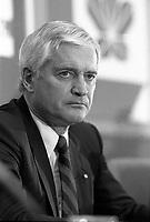 January 17, 1988 file photo - <br /> John Turner<br /> , Liberal leader