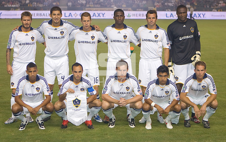 Los Angeles Galaxy starting eleven. The LA Galaxy defeated the Chicago Fire 1-0 at Home Depot Center stadium in Carson, California on Friday October 2, 2009.....