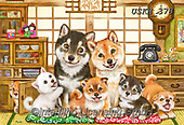 Kayomi, CUTE ANIMALS, LUSTIGE TIERE, ANIMALITOS DIVERTIDOS, paintings+++++,USKH378,#ac#, EVERYDAY ,puzzle,puzzles, dog, dogs