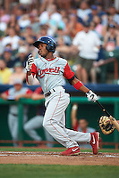 Lowell Spinners outfielder Manuel Margot (2) during a game against the Tri-City ValleyCats on July 5, 2013 at Joseph L. Bruno Stadium in Troy, New York.  Tri-City defeated Lowell 5-4.  (Mike Janes/Four Seam Images)