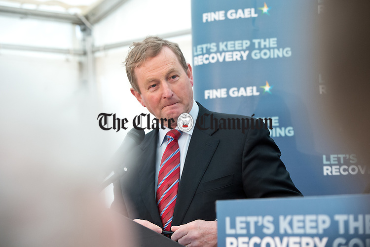 Enda Kenny, Taoiseach speaking at the launch of the Fine Gael tourism initiative. Photograph by John Kelly.
