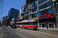 Toronto (ON) CANADA - July 2012 -Dundas square beside  EATON CENTRE