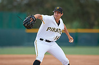 Pittsburgh Pirates pitcher Mason Ward (19) delivers a pitch during an Instructional League game against the Tampa Bay Rays on October 3, 2017 at Pirate City in Bradenton, Florida.  (Mike Janes/Four Seam Images)