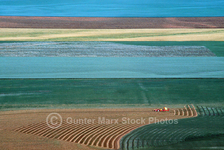 Agricultural Farm Land in the Creston Valley, in the Kootenay Region of British Columbia, Canada, at Harvest Time
