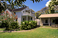 Restored houses of 19th century Hawaii at the Mission Houses Museum, Honolulu