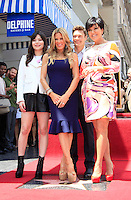 Ellen K is honored with the 2471st star on the Hollywood Walk of Fame. Los Angeles, California on 10.05.2012. PICTURED: Miranda Cosgrove, Ellen K, Ryan Seacrest, Kris Jenner..Credit: Martin Smith/face to face /MediaPunch Inc. ***FOR USA ONLY***