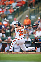 Baltimore Orioles second baseman Sean Coyle (84) at bat during a Spring Training exhibition game against the Dominican Republic on March 7, 2017 at Ed Smith Stadium in Sarasota, Florida.  Baltimore defeated the Dominican Republic 5-4.  (Mike Janes/Four Seam Images)