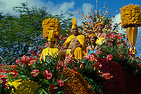 the Royal Court float in the Aloha Festivals Parade, held annually in September