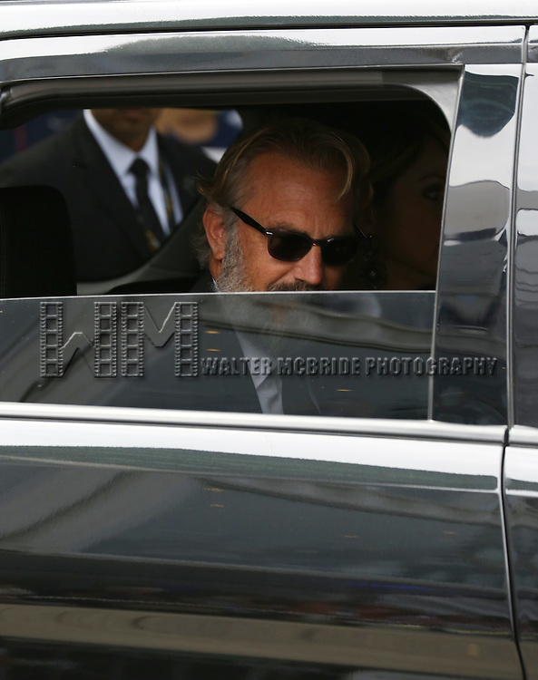 Kevin Costner arrives at  the 'Black and White' premiere during the 2014 Toronto International Film Festival at Roy Thomson Hall on September 6, 2014 in Toronto, Canada.