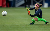 CARSON, CA - FEBRUARY 9: Stephanie Labbe #1 GK of Canada warming up during a game between Canada and USWNT at Dignity Health Sports Park on February 9, 2020 in Carson, California.