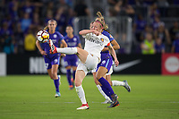 Orlando, FL - Saturday March 24, 2018: Utah Royals defender Becky Sauerbrunn (4) clears the ball during a regular season National Women's Soccer League (NWSL) match between the Orlando Pride and the Utah Royals FC at Orlando City Stadium. The game ended in a 1-1 draw.